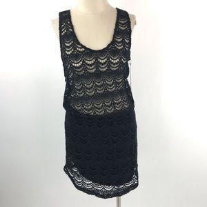 Kova & T Womens Crochet Dress
